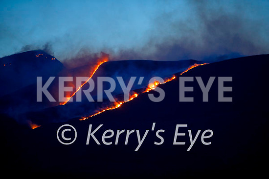 The blazing fire in the Killarney National Park in an area around the Eagles Nest