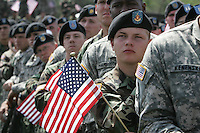 Rally for the troops at Fort Riley Army Base