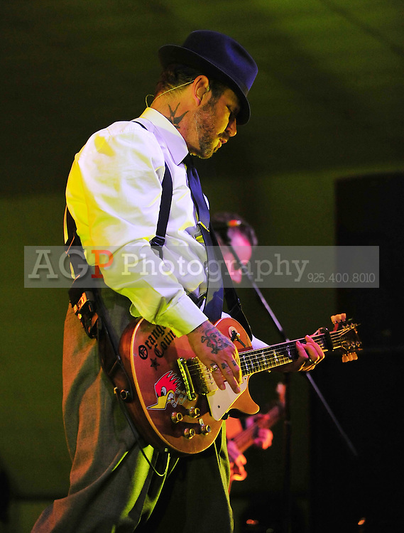 Jan. 24, 2011 - Bakersfield, California - U.S.  - Social Distortion led by MIKE NESS perform at the Kern County Fairgrounds Monday. Performing with Ness are JONNY WICKERSHAM on guiter, bassist BRETT HARDING and DAVE HIDALGO JR on drums. (Credit Image: Alan Greth/ZUMAPress.com).Jan. 24, 2011 - Bakersfield, California - U.S.  - Social Distortion led by MIKE NESS perform at the Kern County Fairgrounds Monday. Performing with Ness are JONNY WICKERSHAM on guiter, bassist BRETT HARDING and DAVE HIDALGO JR on drums. (Credit Image: Alan Greth/ZUMAPress.com).