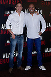 04.05.2012. Presentation at the Hotel Me Madrid in the film ´Alacrán Enamorado´ directed by Santiago A. Zannou produced by Alvaro Longoria and with actors Carlos Bardem, Javier Bardem, Miguel Angel Silvestre, Alex Gonzalez and Judith Diakhate. In the image Alex Gonzalez and  Santiago A. Zannou (Alterphotos/Marta Gonzalez)