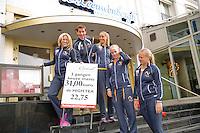 April 17, 2015, Netherlands, Den Bosch, Maaspoort, Fedcup Netherlands-Australia,  Dutch team in Hotel<br /> Photo: Tennisimages/Henk Koster