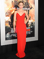 """NEW YORK CITY, NY, USA - MAY 28: Actress Emily Blunt arrives at the New York Premiere Of """"Edge Of Tomorrow"""" held at AMC Loews Lincoln Square on May 28, 2014 in New York City, New York, United States. (Photo by Celebrity Monitor)"""