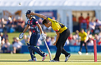 Josh Shaw bowls for Gloucestershire during Kent Spitfires vs Gloucestershire, Vitality Blast T20 Cricket at The Spitfire Ground on 13th June 2021