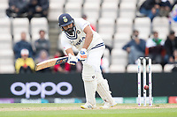 Rohit Sharma pushes into the on side for a run during India vs New Zealand, ICC World Test Championship Final Cricket at The Hampshire Bowl on 22nd June 2021