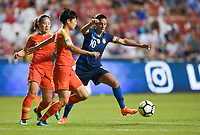 Sandy, Utah - Thursday June 07, 2018: Carli Lloyd during an international friendly match between the women's national teams of the United States (USA) and China PR (CHN) at Rio Tinto Stadium.