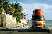 The monument that marks the southernmost point in the continental United States. landmarks. Key West Florida, Florida Keys.