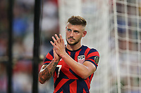 AUSTIN, TX - JULY 29: Paul Arriola #7 of the United States during a game between Qatar and USMNT at Q2 Stadium on July 29, 2021 in Austin, Texas.