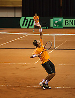 10-09-13,Netherlands, Groningen,  Martini Plaza, Tennis, DavisCup Netherlands-Austria, Training,  Thiemo de Bakker  (NED) <br />