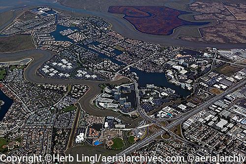 aerial photograph Redwood Shores, Redwood City, San Mateo county, California