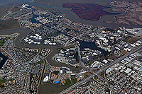 aerial photograph Redwood Shores, Redwood City, San Mateo county, California