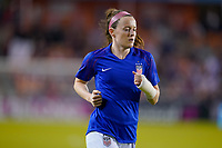 HOUSTON, TX - JANUARY 31: Rose Lavelle #16 of the United States warms up during a game between Panama and USWNT at BBVA Stadium on January 31, 2020 in Houston, Texas.