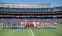 San Diego, CA - July 30, 2017: Australia defeated Japan 4-2 during the Tournament of Nations at Qualcomm Stadium.