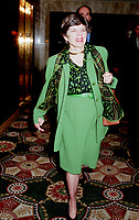 Montreal, June 1st, 1999 File Photo<br /> Alice M. Rivlin ;  Vice-Chair, Board of Directors of the Federa Reserve System of the United States on her way to giving a speech during the 5th `` Conference of Montreal `` on economy globalization on June 1st 1999<br /> <br /> Photo by Pierre Roussel, -IMAGES DISTRIBUTION
