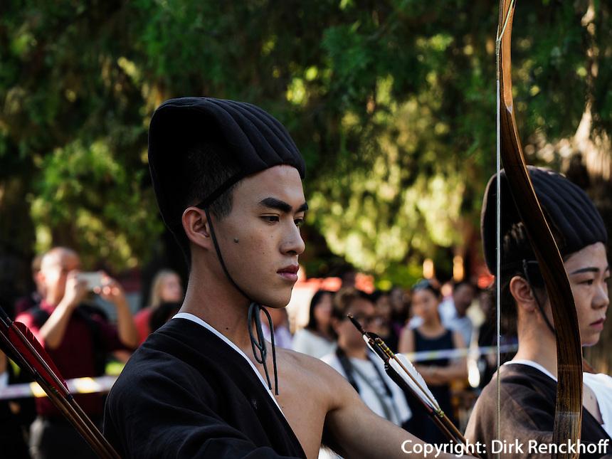Veranstaltung im Konfuziustempel Kong Miao, Peking, China, Asien<br /> event in Confucius temple Kong Miao, Beijing, China, Asia