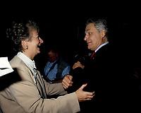 FILE -   Lucienne Robillard et Michel Belanger lorsque<br /> Les partisans du non tiennent un grand rassemblement a l'auditorium de Verdun le 24 octobre 1995<br /> <br /> PHOTO : Agence Quebec Presse