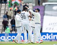 Virat Kohli, India congratulates Ravichandran Ashwin, India on the wicket of Neil Wagner, New Zealand during India vs New Zealand, ICC World Test Championship Final Cricket at The Hampshire Bowl on 22nd June 2021
