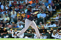 Boston Red Sox outfielder Jackie Bradley Jr. (25) during a Spring Training game against the Pittsburgh Pirates on March 12, 2015 at McKechnie Field in Bradenton, Florida.  Boston defeated Pittsburgh 5-1.  (Mike Janes/Four Seam Images)