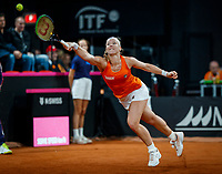 The Hague, The Netherlands, Februari 8, 2020,    Sportcampus, FedCup  Netherlands -  Balarus, First match on Saturday:  Kiki Bertens (NED)<br /> Photo: Tennisimages/Henk Koster