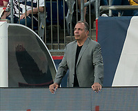 FOXBOROUGH, MA - JUNE 29: Bruce Arena during a game between Houston Dynamo and New England Revolution at Gillette Stadium on June 29, 2019 in Foxborough, Massachusetts.