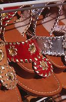 Verkauf von Sandalen von Antonio Viva auf Capri, Italien