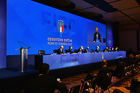 ROME, ITALY - FEBRUARY 22:  A general view of the FIGC Elective Assembly at Cavalieri Waldorf Astoria Hotel on February 21, 2021 in Rome, Italy.  <br /> Photo Marco Rosi / FIGC / Insidefoto