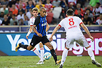 FC Internazionale Midfielder Joao Mario (C) in action during the International Champions Cup match between FC Bayern and FC Internazionale at National Stadium on July 27, 2017 in Singapore. Photo by Weixiang Lim / Power Sport Images
