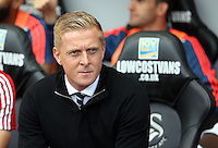 Pictured: Swansea manager Garry Monk Saturday 15 August 2015<br /> Re: Premier League, Swansea City v Newcastle United at the Liberty Stadium, Swansea, UK.