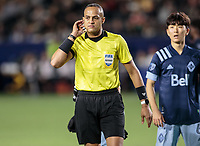 CARSON, CA - MARCH 07: Referee Ismail Elfath during a game between Vancouver Whitecaps and Los Angeles Galaxy at Dignity Health Sports Park on March 07, 2020 in Carson, California.