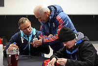 Pictured: Lee Trundle Tuesday 29 November 2016<br />Re: Soup kitchen for homeless people organised by Swansea City FC and Woolwich at the Liberty Stadium, Wales, UK