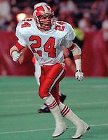Greg Peterson Calgary Stampeders 1991. Photo Scott Grant