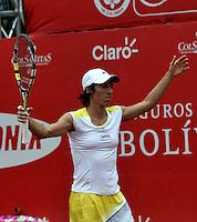 BOGOTA - COLOMBIA - FEBRERO 19: Francesca Schiavone de Italia, en gesticula durante partido por la Copa de Tenis WTA Bogotá, febrero 19 de 2013. (Foto: VizzorImage / Luis Ramírez / Staff). Francesca Schiavone from Italia in gestures during a match for the WTA Bogota Tennis Cup, on February 19, 2013, in Bogota, Colombia. (Photo: VizzorImage / Luis Ramirez / Staff)