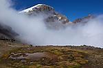 descente depuis le col de boqueron de cusiri au dessus  le sommet del Diamante.Sierra del Cocuy