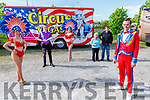 Members of the Circus Vegas thank Tralee for their hospitality during the pandemic.<br /> Front left: Declan Ellis (Clown).<br /> Back l to r: Teresa Peddie, Thomas Codante, Kourtney Victoria, Mona and Steven Courtney .