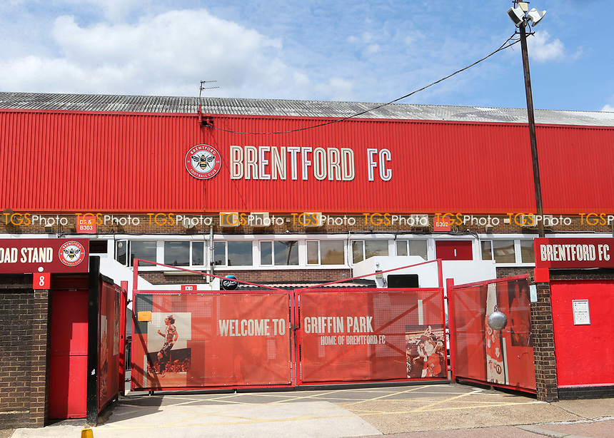 A general view of the main entrance at Brentford FC during Brentford vs Barnsley, Sky Bet EFL Championship Football at Griffin Park on 22nd July 2020