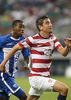 Alejandro Bedoya #20 of the USMNT in action against Honduras on July 24, 2013 at Dallas Cowboys Stadium in Arlington, TX. USMNT won 3-1.