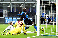 Romelu Lukaku of FC Internazionale scores a goal during the Serie A football match between FC Internazionale and Torino FC at stadio San Siro in Milano (Italy), November 22th, 2020. Photo Image Sport / Insidefoto