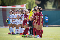 STANFORD, CA - SEPTEMBER 12: Paige Rubinstein before a game between Loyola Marymount University and Stanford University at Cagan Stadium on September 12, 2021 in Stanford, California.
