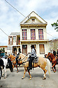"Horseman in funeral for Darnell Mitchell ""Homeboy"" Stewart, Treme, 2014"