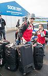 Ben Delaney and Karl Ludwig, Sochi 2014. <br /> Team Canada arrives at the airport in Sochi for the Sochi 2014 Paralympic Winter // Équipe Canada arrive à l'aéroport de Sotchi pour Sochi 2014 Jeux paralympiques d'hiver. 28/02/2014.