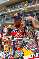 3rd October 2021; Austin, Texas, USA; Marc Marquez (93) - (SPA) riding a Honda for the Repsol Honda Team on the grid for the MotoGP Red Bull Grand Prix of the Americas