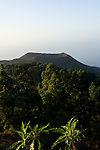 Spain, Canary Islands, La Palma, view at vulcano San Antonio near village Los Canarios Fuencaliente