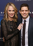 Ashley Spencer and Jeremy Jordan attends the Broadway Opening Night After Party for 'AMERICAN SON' at Brasserie 8 1/2 on November 4, 2018 in New York City.