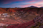 Clay rock formations at sunset, Valley of the Moon, Abra Granada, Andes, northwestern Argentina