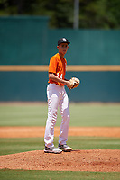 Sebastian Perez (14) of American School High School in Bayamon, PR during the Perfect Game National Showcase at Hoover Metropolitan Stadium on June 19, 2020 in Hoover, Alabama. (Mike Janes/Four Seam Images)