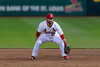 Springfield Cardinals first baseman Chris Chinea (26) during a Texas League game against the Amarillo Sod Poodles on April 25, 2019 at Hammons Field in Springfield, Missouri. Springfield defeated Amarillo 8-0. (Zachary Lucy/Four Seam Images)