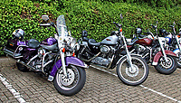 Boyds of Bedford Classic & Custom Bike & Car Meet at Bedford Rugby Club, Goldington Road, Bedford, UK on August 16th 2020<br /> <br /> Photo by Keith Mayhew