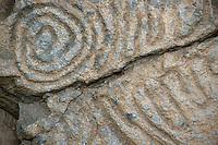 Spanien, Kanarische Inseln, La Palma, Cueva de Belmaco, Steinzeichnungen der Guanchen (Ureinwohner)