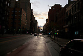 April 18, 2020<br /> New York, New York<br /> Mid-town Manhattan - West side<br /> <br /> An empty streets in midtown-Manhattan on West 23rd street during the time of the cononavirus pandemic.