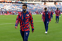NASHVILLE, TN - SEPTEMBER 5: Tyler Adams #4 of the United States walks off the field during a game between Canada and USMNT at Nissan Stadium on September 5, 2021 in Nashville, Tennessee.