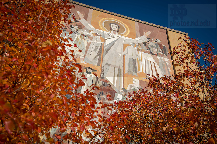 November 30, 2016; Word of Life Mural, commonly known as Touchdown Jesus. (Photo by Matt Cashore/University of Notre Dame)